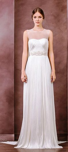 6da1a3c0d80a Divine Atelier wedding dress 2015 bridal illusion jewel neckline top column  gown chiara
