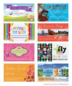 Business Card Design, Hang Tag Design, Colorful Card Design, Etsy Business Card, Custom Business Card Design, Branding Design