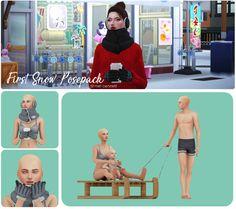 Sims 4 First Snow Posepack - Mel Bennett My Sims, Sims Cc, Sims 4 Black Hair, Sims Packs, Best Friend Poses, Group Poses, Snow Outfit, First Snow, Sims 4 Cc Finds