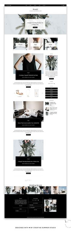 Beaute - Fashion & Shop Theme by Creative Summer Studio on @creativemarket