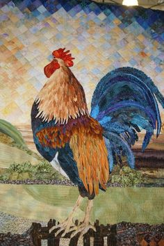 Rooster Quilts from the Quilts by the Sea - Newport, Oregon