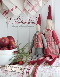 Simply Shabbilicious Christmas magazine... full of beautiful decorating and creativeness to inspire and delight anyone who embraces shabby, vintage, cottage, farmhouse and romantic living.