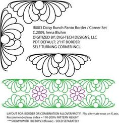 Daisy Bunch Panto Border by Irena Bluhm IB003