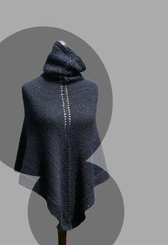 Women poncho, sensitive skin poncho, syntetic yarn poncho, acrylic poncho, hand knit poncho, knit shawl, knit cape,knit scarf,vegan friendly on Etsy, $111.60 CAD