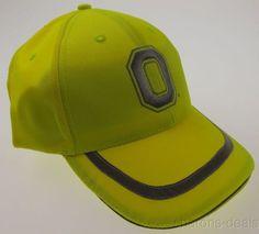 OSU Ohio State University Buckeyes Hunting Safety Cap Hat Fluorescent Yellow HMI