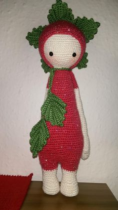 ERNA the strawberry made by Susanne G. / crochet pattern by lalylala