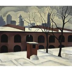 """View from Brooklyn,"" 1927, George Ault"