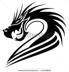 Vector. Dragon. - stock vector