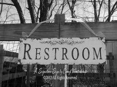 Restroom Sign. Restroom Door Sign. Restroom by MyPrimitiveBoutique
