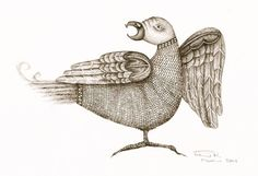 Pam Holland Designs: This is one of the illustrations Ive done for my book on the Bayeux of the zoomorphic animals on the bottom of the Bayeux Tapestry...  The bird Im doing is much simpler than tis one, but there are comparisons.