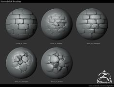 18 Zbrush Sculpted Rock Brushes by JONAS RONNEGARD JONAS RONNEGARD is a 3D Artist from Tokyo, Japan.