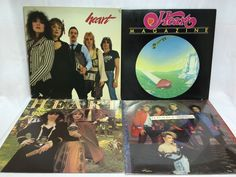 Heart Vinyl Record Lot of 4 - Self Titled Magazine Little Queen Greatest Hits