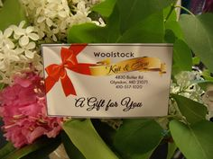 Just in time for Mother's Day!! Gift card to Woolstock. Mom will love it!! http://www.woolstock.com/shop/Gift-Cards/p/Gift-Cards-x4887763.htm