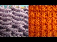▶ CONTINENTAL:  2 Easy & Elegant Stitch Patterns - 2 Row pattern #1: Row 1, K, Row 2,* K1, sly purl wise, K1* repeat across.