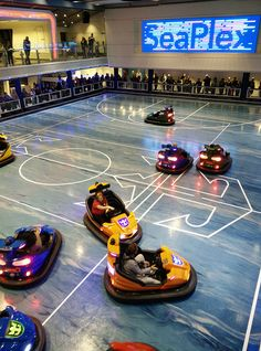 Quantum of the Seas | Take on family and friends in the exhilarating bumper car arena on Royal Caribbean Quantum Class ships.