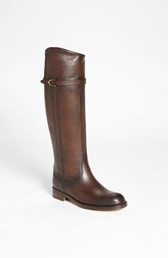 """Gucci Tall Leather Boot available at #Nordstrom  """"If I had a million dollars, if I had a million dollars"""" I'd buy you some boots and not just any old boot. I'd buy Gucci boots and look fabbbbuuuullloooouuuuusssss"""