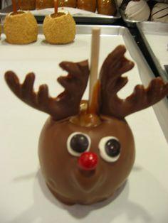 Reindeer caramel apple