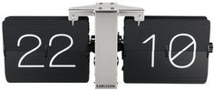 karlsson flip clock black silver