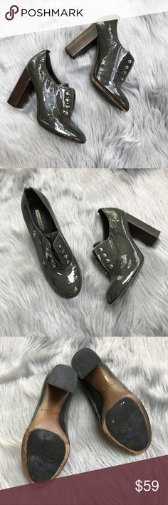 Theory Nariko Ankle Boots💚 Condition: Good  Size: 7  The perfect fall shoes. Pair these beauties with leggings and long coats.  Worn twice for fashion week in Newyork.  I seriously felt so Stylish. Bottoms of shoes have a good grip to keep from slipping. No laces required as shoes have an elastic inside them. Small stains on patent leather on each shoe (see pics) can be removed with a cleaner.  Heel height is approximately 4 1/2 inches. Grab these beauties quick! 🍂  In Bin: GH **Comes from…