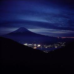 Mt. Fuji and Kawaguchiko at night