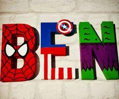 Personalized Superhero Letters #LavaHot http://www.lavahotdeals.com/us/cheap/personalized-superhero-letters/108837