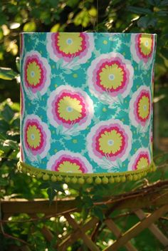LOVE this lampshade - the colors are my faves