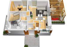 Projekt domu AC Lea (wersja B) CE - DOM - gotowy koszt budowy Villa, Shelves, Furniture, Home Decor, Classic, Houses, Miniatures, Projects, Derby