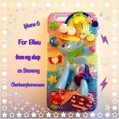 Rainbow dash custom case from my shop on Storenvy-Cherbearphonecases- Check Out my Instagram gallery @cchobbo to see all of my cases!