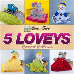 Combo Pack  Choose 5 Loveys / Security by oneandtwocompany on Etsy