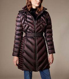 8f411f9cbb Karen Millen, Long Packable Puffer Jacket Burgundy Down Puffer Coat, Puffer  Jackets, Winter
