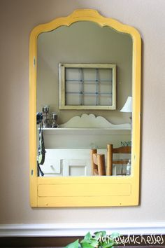 painted old mirrors | ... even taped it off and painted it with a coat of white paint or primer