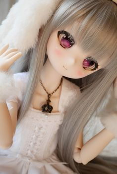 moco x moca mocomo DDH-01 セミホワイト肌の子><; Anime Dolls, Blythe Dolls, Pretty Dolls, Beautiful Dolls, Kawaii Doll, Kawaii Anime, Anime Drawing Styles, 3d Model Character, Cute Love Images