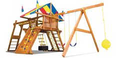 Awesome kids swing set by Rainbow.