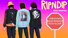 RipNDip Stuff… Pt after I came out with the first part they released the second part of their Fall drop, so obviously I had to come thru with the other designs, but this time in long sleeve.