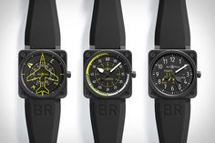 Bell & Ross watches have always resembled the guages inside a plane, but these Bell & Ross Aviation Collection Watches ($TBA) take that relationship to the next level. Inspired by the heading, airspeed, and climb speed indicators, these new watches feature three different ways of indicating the time, based on a disc system, a 60-minute dial, and a standard dial, respectively. Each one is limited to just 999 examples, and the first 99 will arrive in a collectors box with all six pieces of the…