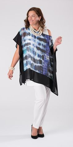 Kasbah grey/violet square blouse