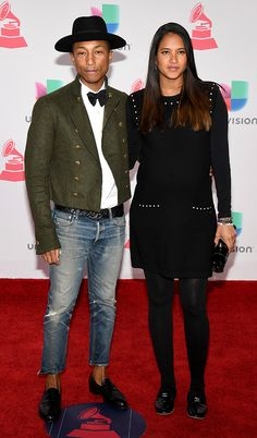 Pharrell Williams and Helen Lasichanh: 2016 Latin Grammy Awards