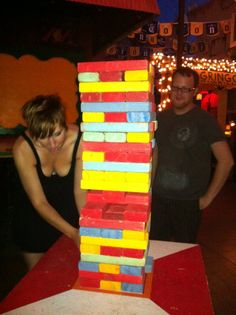 This works for several reasons Baby Shower Games, Baby Shower Parties, Baby Showers, Game Ideas, Party Ideas, Giant Jenga, Pregnancy Announcements, Big Sis, Baby Bumps