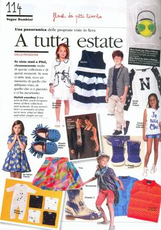A snap shot of SS15 in Vogue Bambini, September 2014. Featured style: Monkey Boot in Ink.