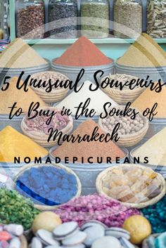 Read about 5 unusual souvenirs to buy in the souks of Marrakech, Morocco. They are cheap, organic, and vegan!