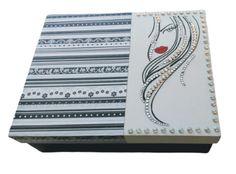 Caja Joyero, Organizador Pintada A Mano 20x25 #JohannaHandMade #mate Painted Boxes, Jewel Box, Organizers