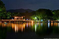 奈良 浮見堂 ライトアップ夜景 01