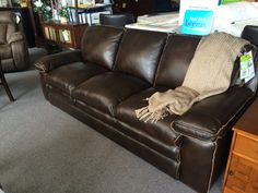 This gorgeous leather sofa is built to last you and only $2197!!! Come in and see us today!