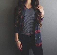 Loving the dark flannels with a t-shirt.