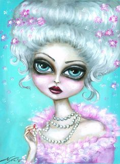 INFATUATION big eye victorian fairy gothic lowbrow limited edition print. $47.00, via Etsy.
