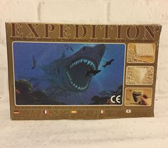Expedition Kit 16 Million Year old Shark Tooth 5 Inch Giant Replica 1997 Vtg