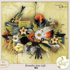 New kit by #AurelieScrap Breathe Into Life ...#scrap #scrapbooking #digital #inspiration #DIY