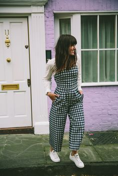 My favorite gingham jumpsuit!