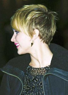 Hair Color for Short Hair 2014_17. This is really cute because it's nice and short in the back with fun layers on sides, top, front.