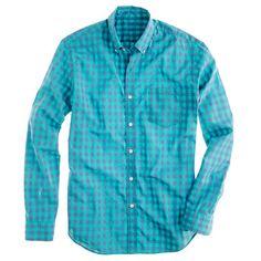 Secret Wash shirt in bright gingham